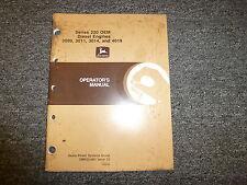 John Deere 3009 3011 3014 4019 Diesel Engine Owner Operator Manual Omrg21891