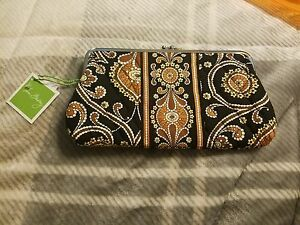 VERA BRADLEY CAFFE LATTE CLUTCH WALLET - NEW WITH TAGS - RETIRED