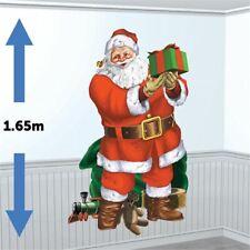 Giant 5 FT Noël Santa/'s Visit Scène Setter Décoration Murale De Noël Fête environ 1.52 m