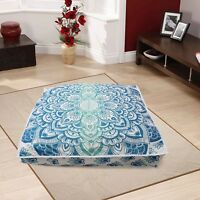 """35"""" Mandala Indian Square Cushion Floor Pillow Case Seating Cover Ottoman Pouf"""