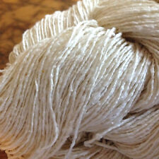 Silk Tweed Noil Yarn, 50 Grams, Undyed, Knitting, Weaving, Crochet