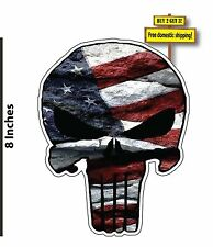 American Flag Punisher USA Old Glory Vinyl Decal Sticker Buy FLG22