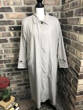 MISTY HARBOR LADIES SIZE 16P TRENCH COAT LINED KHAKI BEIGE ~made in RUSSIA~