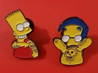 Simpsons Pin Enamel Bart Milhouse Sugar Rush Bender Metal Brooch Lapel Badge