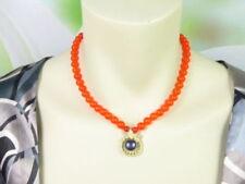 Echtschmuck-Halsketten & -Anhänger aus Kupfer für Damen mit Perle