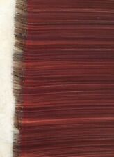 """JOHN BOYD TEXTILES, England Horsehair Paso Red Grey 26"""" wide woven New Remnant"""