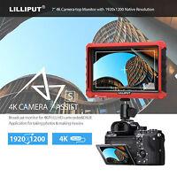 Lilliput A7S 1920x1200 IPS 4K-Schleifenausgang für Feldmonitor Kamera für DSLR