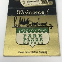 Vintage Matchbook Park Plaza Hotels Advertisement Texas Tennessee Missouri