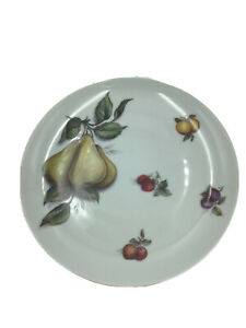 """Pears Strawberry & Blueberry  8 1/4 """" Oval Serving Platter Earthenware England"""