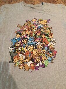 Hanna Barbera T-Shirt L Classic Cartoon Characters Jetsons Flinstones