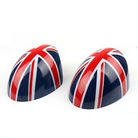 2 x Union Jack WING Mirror Covers for MINI Cooper R55 R56 R57 Power Fold Mirror/
