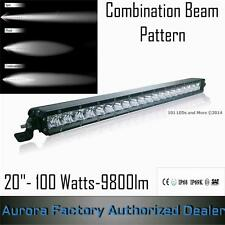 "Aurora LED 20"" Single Row Off-Road Light Bar 100Watts-9800lm-6.1 Amp. Truck- Rzr"