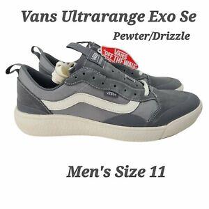 Vans Men's UltraRange Exo Se Suede Mesh Shoes Pewter Grey Drizzle Size 11 NEW