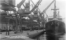 Cranes Goole Docks Merchant Ship Blyth unused RP old pc Arjay