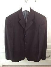 Taylor and Reece Black Pin Stripe Suit Jacket Jacket Blazer Single Breast 36 S