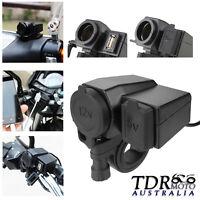 12V USB Cigarette Lighter Waterproof Power Port Outlet Socket Kit For Motorcycle