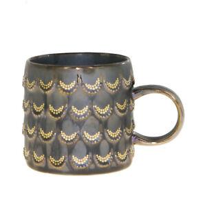 Starbucks Anniversary Brown Gold Scales Siren Relief Ceramic Handle Mug 10oz