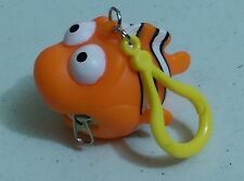 "Rubber CLOWNFISH Key Ring / Coin Purse 2"" NEW Keychain KeyRing"