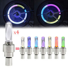 4pcs Bike Car Motor Wheel Tyre Tire Valve Cap LED Light Spoke Flashing Lamp