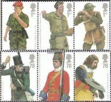 Großbritannien 2568-2573 Dreierstreifen (kompl.Ausg.) postfrisch 2007 Uniformen