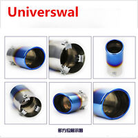 Round Chrome Stainless Steel Car Auto Rear Round Exhaust Pipe Tail Muffler Tip