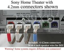 6c 4.2mm speaker cable/wire plug/connectors made for Select Sony home theater