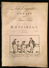 "Late 18th/early 19th c. Engraved Sheet Music ""La Coquette Sonate"" D. Steibelt"