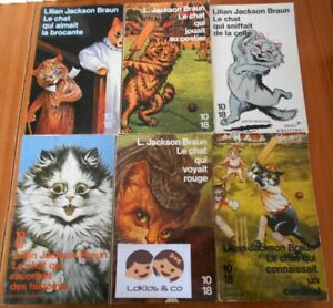 LOT de 6 Livres ROMANS Collection 10/18 LE CHAT QUI ... LILIAN JACKSON BRAUN