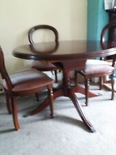 Mahogany wood table and four chairs