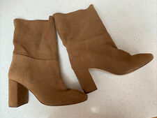 H&M Soft Suede Pull On Boots Size Uk6/39
