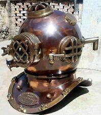 Vintage Morse Nautical Sea Marine Diver Diving Helmet Brass Scuba Boston Navy