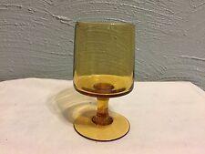 Vintage American Goblet Amber footed Juice Water Stemmed Glass
