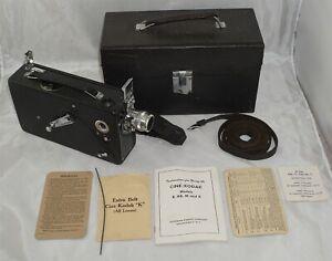 Cine Kodak Model K 16mm Movie Camera in Case w/ Accessories