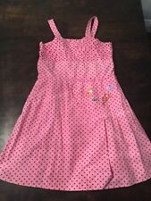 """Oilily Girls Size 128 7/8 Polka Dot Pink Dress """"You're My Butterfly"""""""