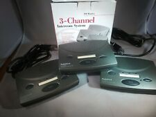 Radioshack Fm Wireless 3 Channel Intercom System, Set of 3, 43-3105 in Box