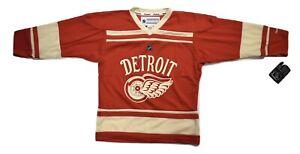 Reebok NHL Youth Detroit Red Wings Blank Hockey Jersey NWT S/M, L/XL