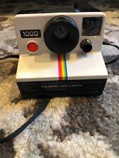 NEW White Polaroid Land Camera 1000 with Rainbow Stripe