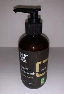 Every Man Jack Beard And Face Wash Sandalwood Scent 6.7 Fluid Ounce Fl Oz New