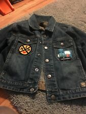 Baby Gap Denim Jacket With I Love RR Patch And Train Engine Patch