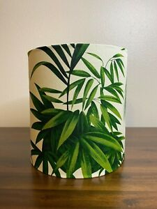 Tropical Green & Cream Palm Leaves Handmade Lampshade (Gold Silver Copper)