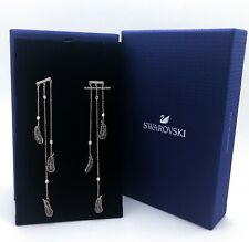 New SWAROVSKI Rose Gold Naughty Feather Crystal Chandelier Earrings 5497873