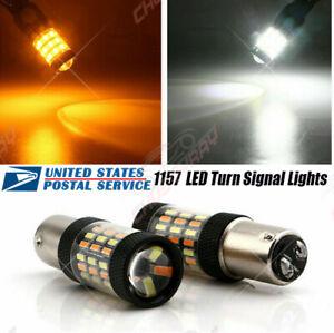 For Kia Forte 2010-2019 LED Front Turn Signal Lights 2357 Switchback Amber White
