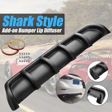 Universal Car Rear Bumper Shark Fin 6 Wing Lip Diffuser Spoiler 25''x5'' Black