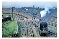 gw0225 - British Railway Engine 92057 at Doncaster in 1956 - photograph 6x4