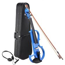 4/4 Electric Maple Wood Violin Right Hand Full Size Practice Concert Headphone