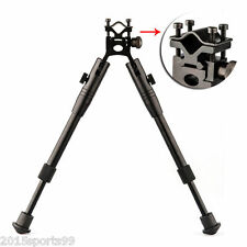 "Universal Rifle Bipod 8""-10"" Mount System Picatinny Rail + Barral Mount Adapter"