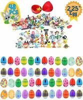 "Playoly 48 Toy Filled 2.25"" Plastic Easter Eggs with Assorted Figurine..."
