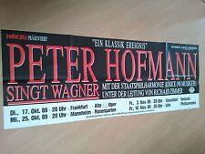 PETER HOFMANN  1989   orig. Concert - Konzert - Poster 168 x 59 cm SONDERGRÖSSE