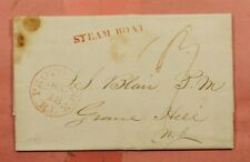 1856 PROVIDENCE RI STEAM BOAT STAMPLESS F/L