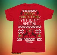 New Home Alone Merry Christmas Ya Filthy Animal Ugly Sweater Mens T-Shirt